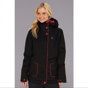 DC Black and Pink Winter Jacket
